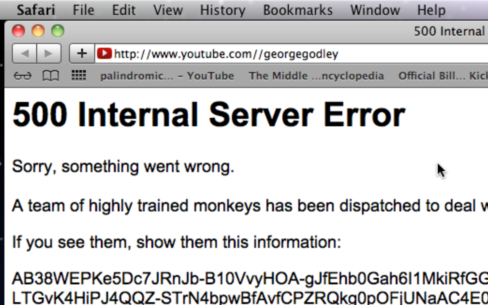 YOUTUBE:GEORGEGODLEY 500 INTERNAL SERVER ERROR Screen shot 2014-02-24 at 23.27.49
