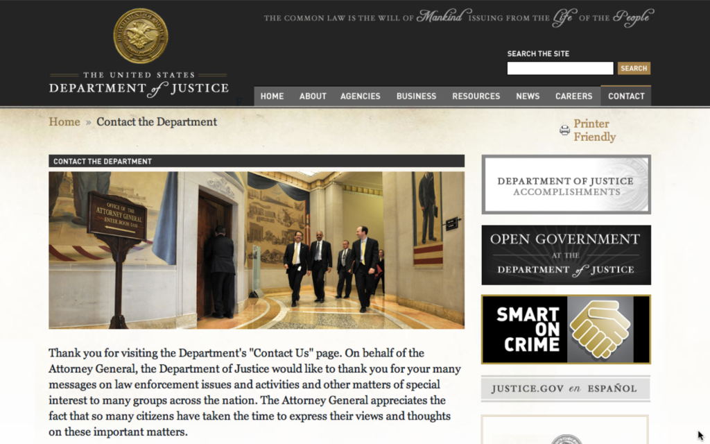 department of justice contact Screen shot 2014-07-09 at 16.28.23