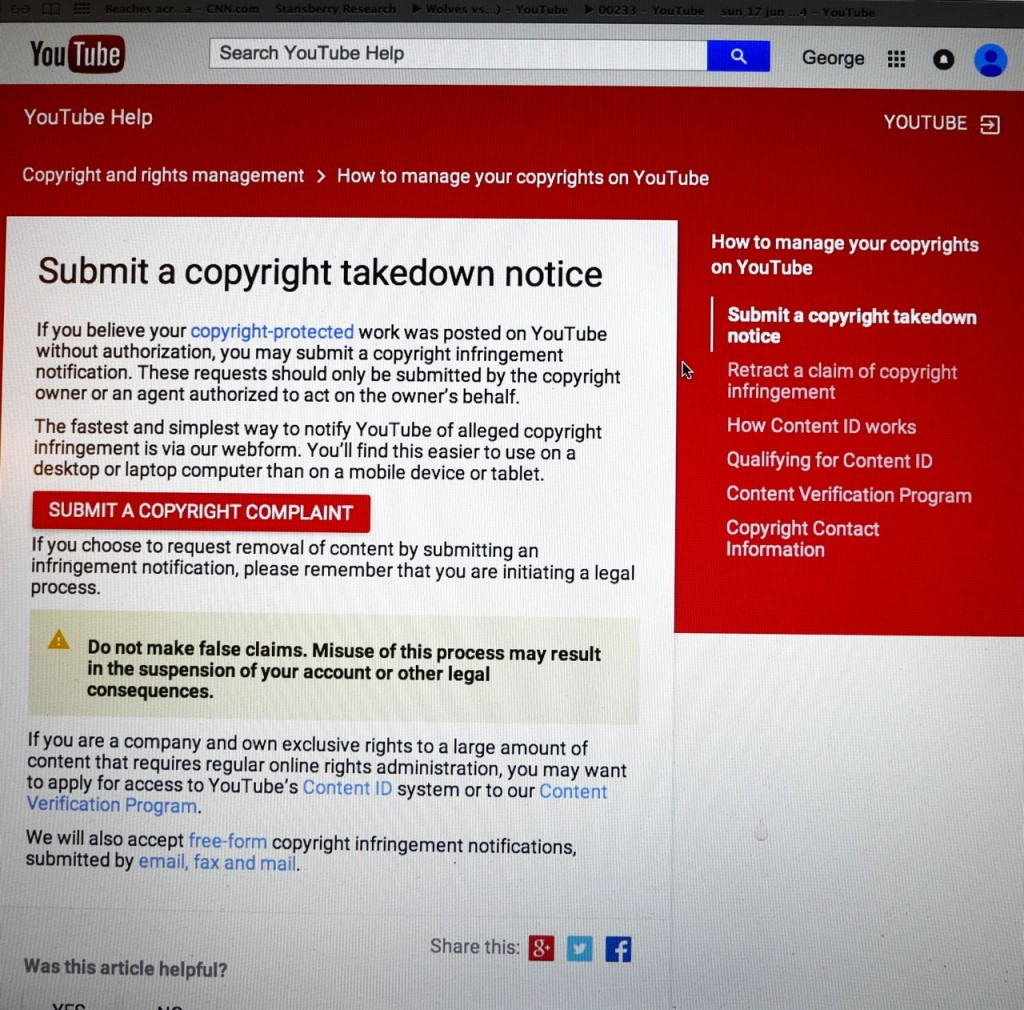 youtube © dmca form P1040810