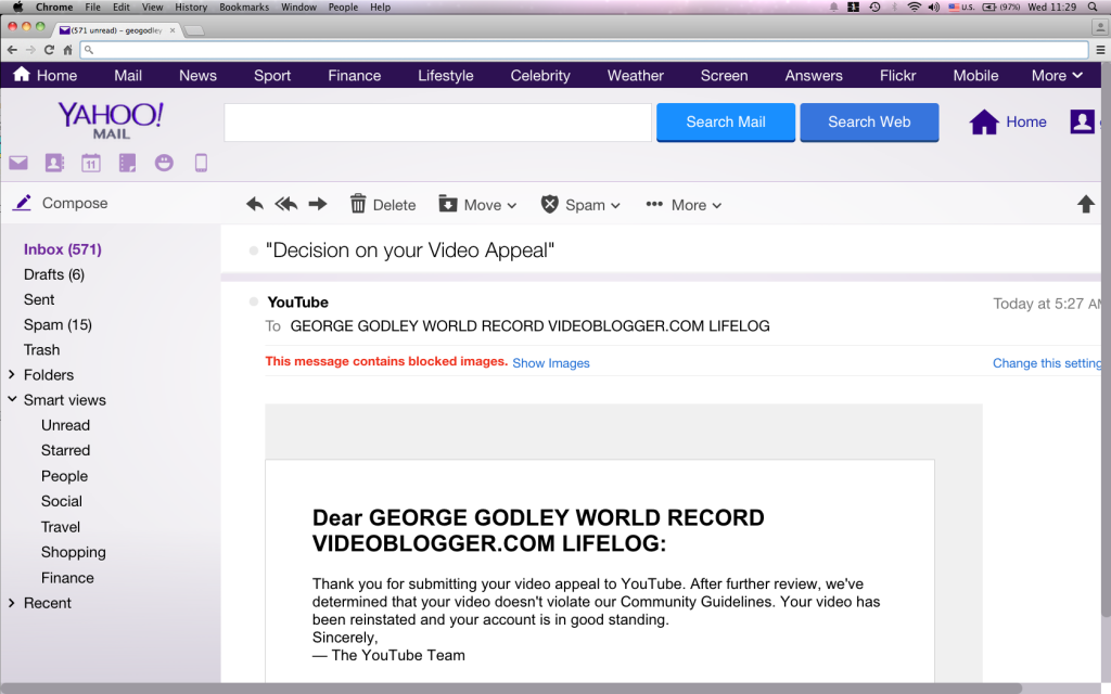 youtube gosh strike removal email no url Screen shot 2015-02-11 at 11.29.33